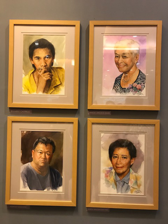 Ephraim Samson Portraits of Filipino Artists (10)