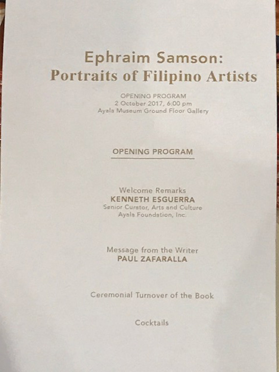 Ephraim Samson Portraits of Filipino Artists (2)