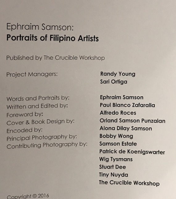 Ephraim Samson Portraits of Filipino Artists (5)