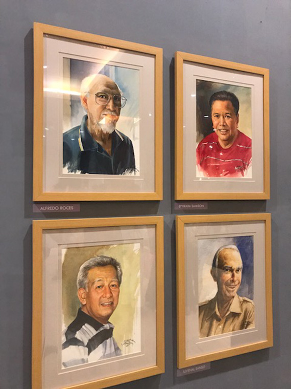 Ephraim Samson Portraits of Filipino Artists (8)