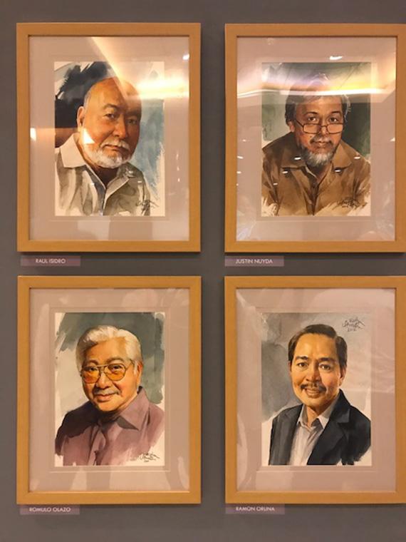 Ephraim Samson Portraits of Filipino Artists (9)