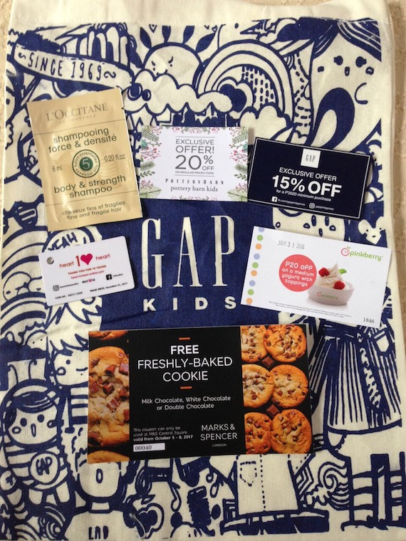 Pottery Barn Heart2Heart giveaway GAP M&S cookie