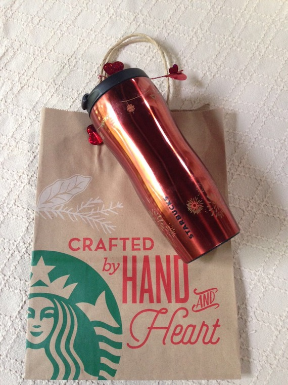 Pottery Barn Heart2Heart giveaway Starbucks tumbler