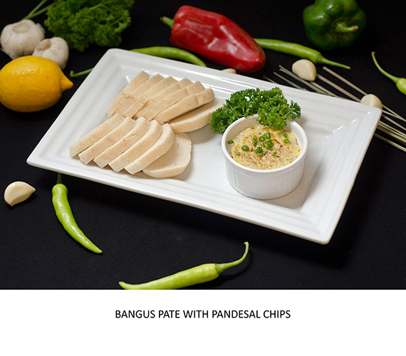 TAPAS - BANGUS PATE WITH PANDESAL CHIPS