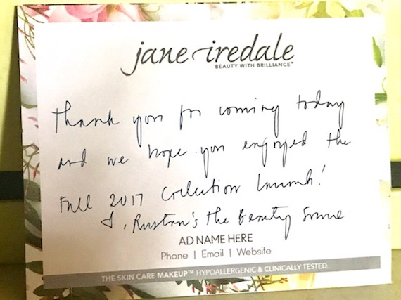 Thank you jane iredale beauty source rustans