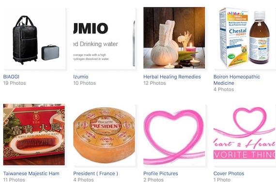 H2hfacebook items