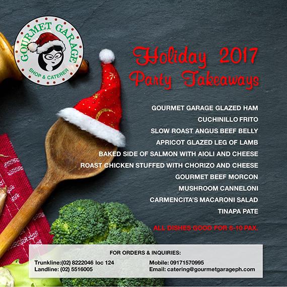Gourmet Garage Holiday 2017 Party Takeaway (1)