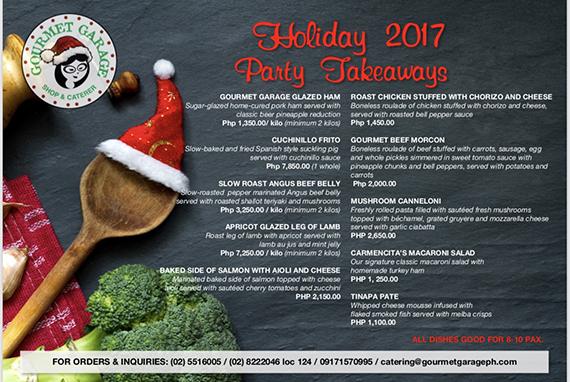 Gourmet Garage Holiday 2017 Party Takeaway (2)