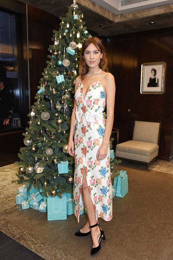 Alexa Chung Unveils Tiffany & Co. Christmas Windows For 2017