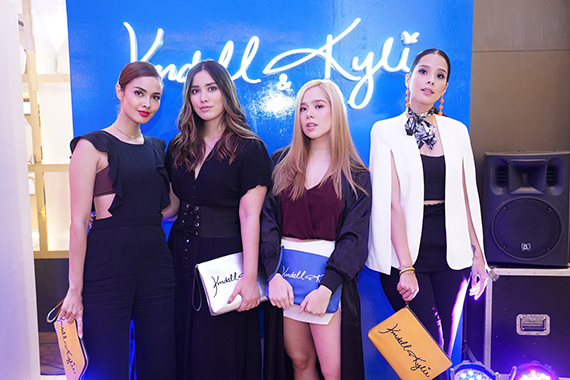 Megan Young, Lauren Young, Saab Magalona pose during the Charming Charlie x Kendall Kylie Collection launch last October 7 in Central Square mall
