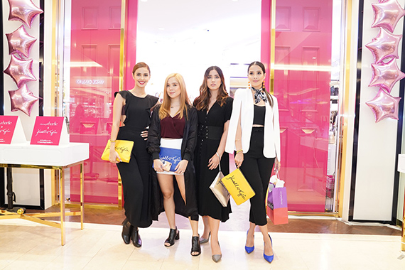 Megan Young, Saab Magalona, Lauren Young & Maxene Magalona help unveil the Charming Charlie x Kendall Kylie limited edition collection in Central Square (1)