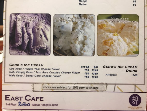 Geno's Ice Cream at East Cafe (1)